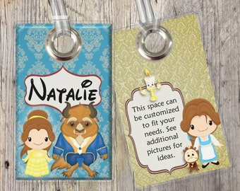 Beauty and the Beast - Belle - Disney Princess - Disney - Custom Tags for Backpacks, Luggage, Diaper Bags & More!