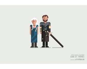 Game of Thrones - DAENERYS & JORAH - 19x13 Poster