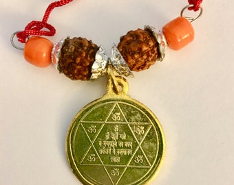 Interdimensional Lord Ganapati Problem Solver Siddhi Yantra Pendant