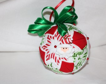 Christmas time quilted ornament!