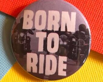 Motorcycle Pinback Button, Harley Davidson Pin, Sturgis Magnet, Biker Gang Button, Motorcycle Keychain, Americana, Backpack Pin, Punk Pin