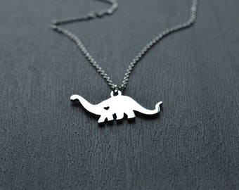 Biolojewerly -  Stainless Steel Dinosaur Heart Necklace