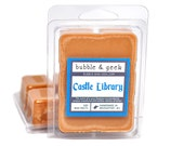 Castle Library Scented Soy Wax Tart Melts - brown