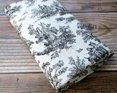 Black and Off White Toile Fabric - FREE US Shipping - Waverly - Rustic Life - Upholstery - Tote Bags - Pillows - Zipper Pouches - Material