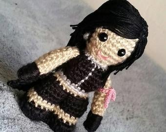 Crochet Tifa Inspired Stuffed Animal Plush Cosplay Character Doll Based on Final Fantasy Advent Children