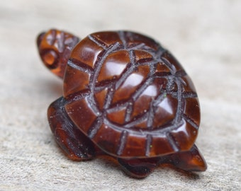 Handmade Collectible Amber Turtle - Amber Carvings - Genuine Baltic Amber