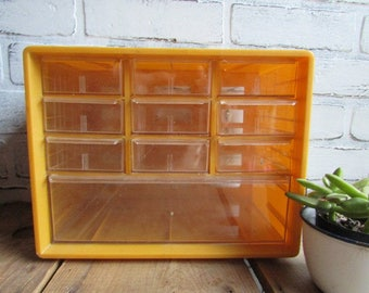 Storage Drawers Hardware Vintage Drawer Organizer Yellow Plastic Drawers