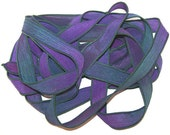 January Super Sale/Purple Freeze/ Limited Supplies/Sorry No Custom orders/ Sassy Silks Hand Dyed/Painted Ribbons/See Description