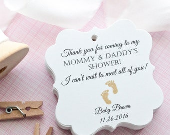 Baby Shower Favor Tags  Favor Tags   Baby Shower   Baby Tags   Thank You