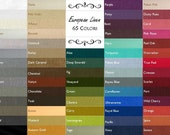 Custom Sized Linen Tablecloth//USA Made//65 Colors//Extra Large Linen Tablecloths