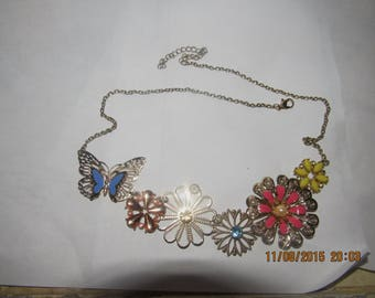 Flower Butterfly Costume Jewelry Necklace