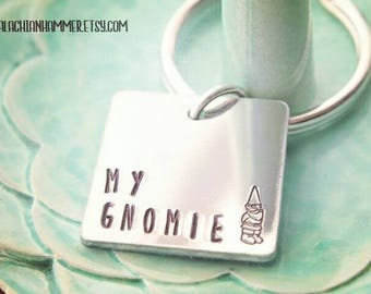 My Gnomie Garden Gnome Hand Stamped Necklace or Key Chain