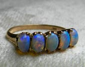 SOLD to E, 2nd payment in layaway Purple Opal Lightning Ridge Semi Black Opal Ring Gift Mermaid Ring Purple Opal Ring Wedding Ring