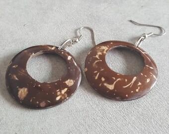 Handmade Coconut Shell   Earring