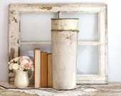 Vintage Sap Bucket, White Sap Bucket, Galvanized Bucket, Farmhouse Decor, Rustic Garden Decor, Rustic Home Decor, Vintage Farmhouse Decor