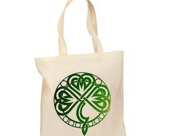 Irish Celtic Knot New Lightweight Cotton Tote Bag Events Gifts