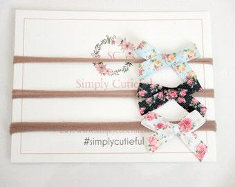 Baby Girl Headbands, Small Bows Headband, Nylon Headbands, Newborn Headbands, Baby Toddler Infant Hair Bows, Baby Shower Gifts
