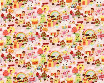 Kawaii Candy Town fabric from Pacific Textiles