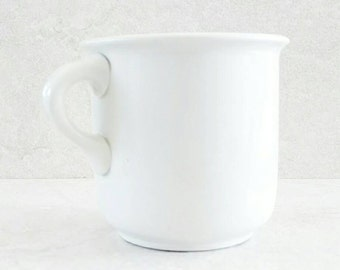 Hall China Company Chamber Cup Shaving Mug White Ironstone Antique Vanity Cup 1903 Very Early Production Very Heavy