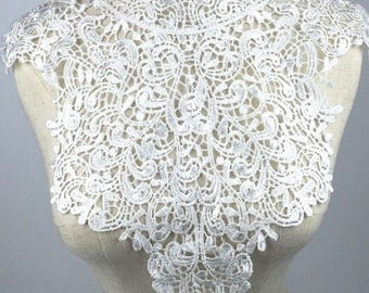 venise embroidery lace collar, Lace Collar