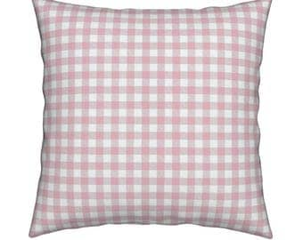 Gingham Pink Pillow Cover