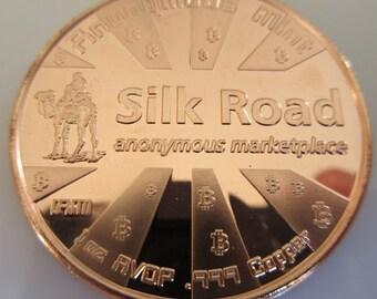 Bitcon - Silk Road 1 oz .999 Pure Copper Challenge Coin
