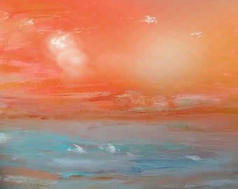 Print of Original Painting, Beautiful Colors, Landscape, Oceanscape, Abstract Art, Wall Art, Home Decor, Affordable