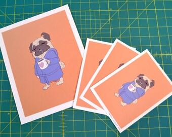 Sleepy Pug Print - S