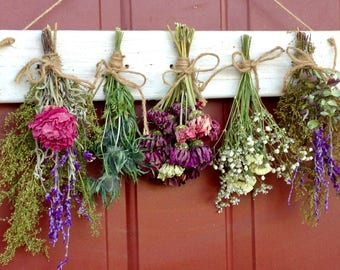 Flower Drying Rack, Dried Flower Arrangement,Primitive,Country,Wall Decor, Dried Flowers, Floral Arrangement, Cottage Decor, Rustic