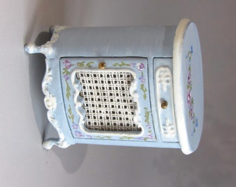 1:12th scale ~ Dolls House ~ Hand Painted. French Bed Side Cabinet