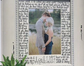"song lyrics frame photo mat; ""All of Me"" by John Legend; Christmas gift husband wife boyfriend anniversary; wedding song lyrics; wedding vow"