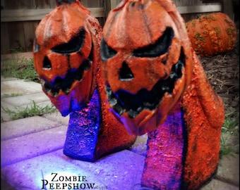 Pumpkin Curved Jack-o-lantern Wedges