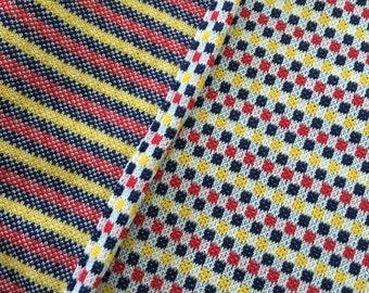 Polyester Double Knit Yardage Fabric Mid Century Retro Clothing