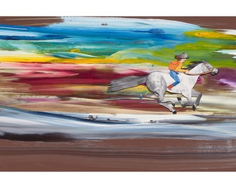 Slow Down World gallop print