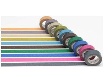 Sets of 10 Rolls  Dull Color Japanese Washi Tape (MT10P004)