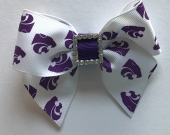 KSU HAIRBOW, Kansas State Headbands, Ksu stocking Stuffer, Wildcats Hair clip, Ksu Newborn Gift