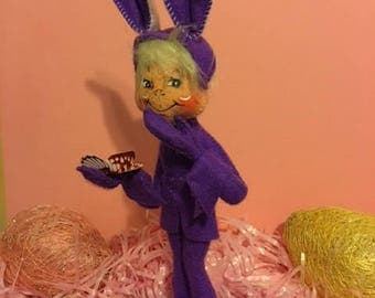 Purple Annalee Elf Doll with Butterfly