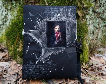 Vampire Diaries Vampire diary Gothic witch journal notebook Medieval book Personalized journal Black journal Damon Salvatore Gift for her