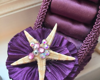 Swarovski starfish shoe ring holder