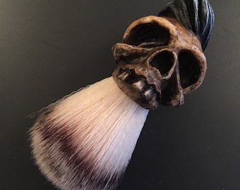 Greaser Skull Shaving Brush