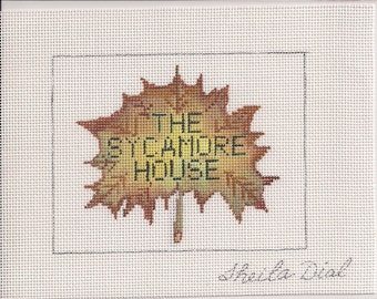The Sycamore House Restaurant Needlepoint Ornament