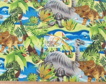 100% Cotton Fabric By SPX Fabrics - Dino-Might Dinosaurs Portrait - Sold By The Yard (FH-3219) DIY Clothing Accessories Decor