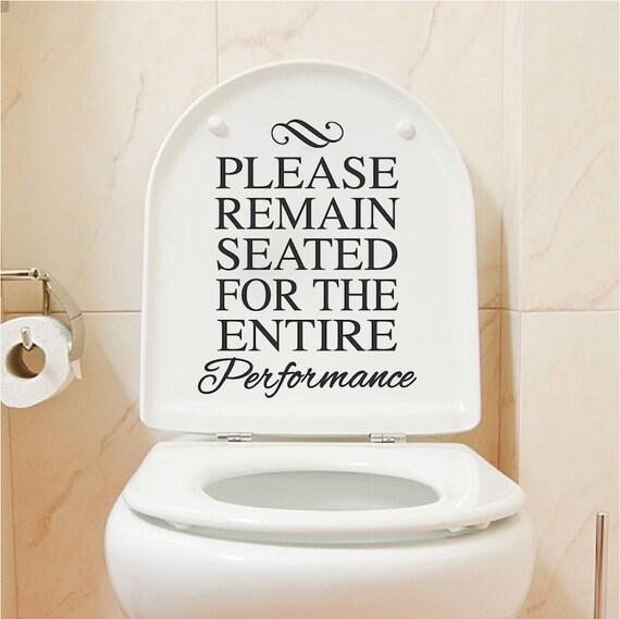 Funny Toilet Peek Sign Sticker: Funny Toilet Vinyl Decal Sticker Bathroom House Quotes Sticker