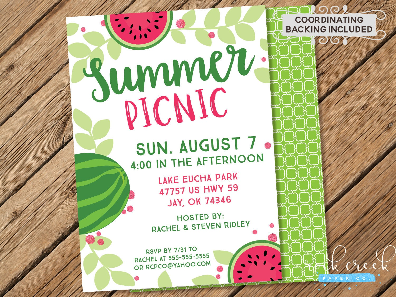 sommer-picknick einladung park picknick einladung picknick, Einladung