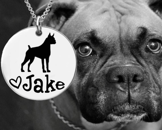 Boxer Necklace | Boxer Jewelry | Personalized Dog Necklace | Personalized Gifts | Korena Loves