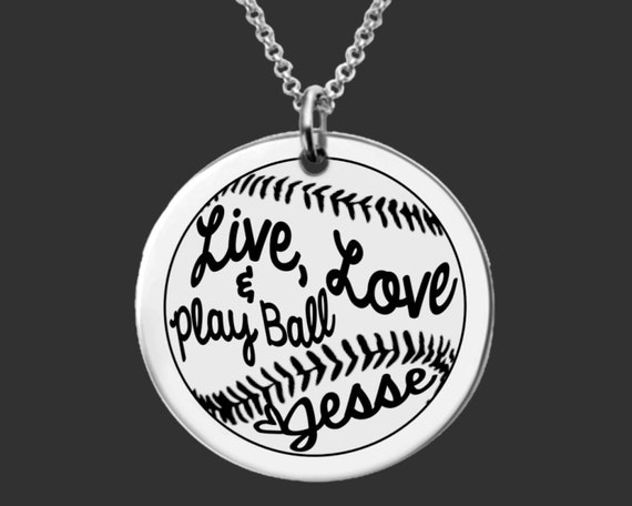 Softball Necklace | Softball Jewelry | Daughter Gift | Teen Gifts | Granddaughter Gifts | Personalized Gifts | Korena Loves