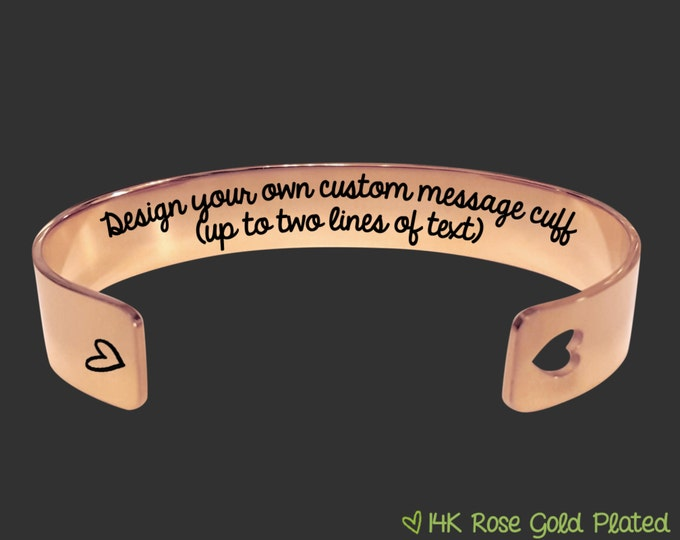 Design Your Own | Rose Gold | Personalized Rose Gold Bracelet | Personalized Gift | Design Your Own | Personalized Gifts | Korena Loves