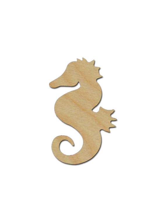 Seahorse Shape Wood Cut Out Unfinished Wooden Animal Shapes