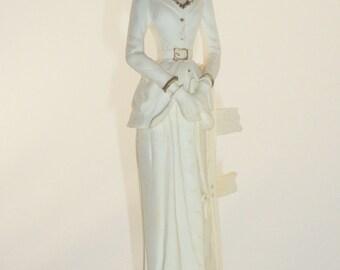 Victorian Lady Figurine - Bisque
