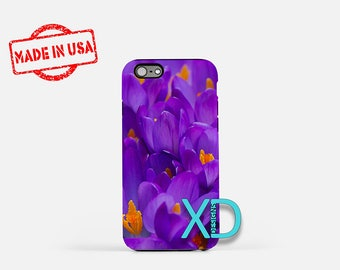 Purple Flower iPhone Case, Purple iPhone Case, Flower iPhone 8 Case, iPhone 6s Case, iPhone 7 Case, Phone Case, iPhone X Case, SE Case